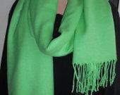Šviesiai žalias šalikas Pashmina Orginal