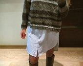 Oversized megztinis su vilna
