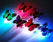 LED drugeliai plaukams