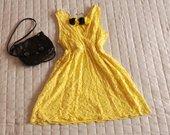 Ryški geltona vasarinė suknelė