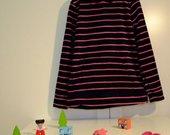 Pašiltintas megztinis su gobtuvu mergaitei