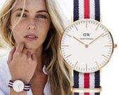 Klasikiniai DW laikrodżiai. Daug spalvų