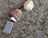 Veidrodiniai roziniai akiniai nuo saules