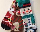 Spalvingos medvilninės Kalėdinės kojinės