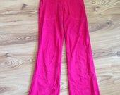 Rožinės trikotažinės kelnės
