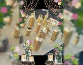Nuomoju auksinius butelius vazas dekorui
