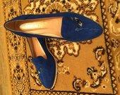 Nauji mėlyni odiniai batukai 39 d