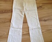 Baltos lininės kelnės