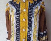 Ryškūs vintage raštuoti marškinukai