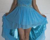 Žydra proginė suknelė