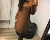 Ruda stilinga suknele