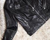 Nauja juoda moteriška odos imitacijos striukė