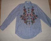 Gėlėti dryžuoti marškiniai