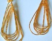 Geltono metalo auskarai