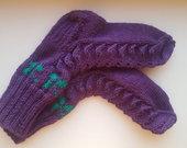 Šiltos rankų darbo kojinės