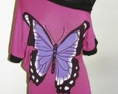 Stilinga rožinės spalvos tunika su drugeliu