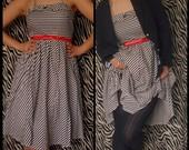 Marinistinio stiliaus suknelė