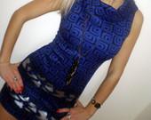 nauja mėlyna suknelė su ornamentais