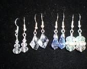 Svarovski imitacijos kristalų auskarai