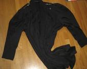 Juodas ilgas švarkas/paltukas