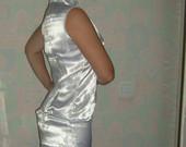 Balta kiniška suknelė, ilga