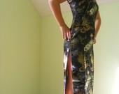 Juoda kiniška suknelė, ilga