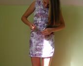 Violetinė kiniška suknelė, trumpa