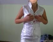 Balta kiniška suknelė, trumpa
