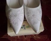Vestuviniai Louisa Peeress odiniai bateliai