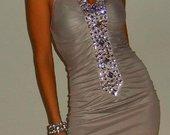 Akcija!!!Nuostabi nude spalvos suknele