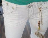 Nauji balti džinsiniai šortai