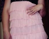 Graži trumpa vasarinė rožinė suknelė