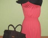 TIK 34lt!!!Koralu spalvos vasarine suknele