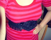 Rožinė suknelė -tunika