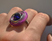 Žiedas Violetinis rutulys