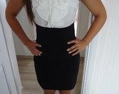 Balta/juoda suknutė