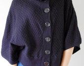 Platus juodas megztinis/ švarkas