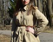 Nude spalvos paltukas
