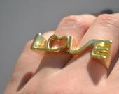 Dvigubas žiedas LOVE