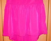 Sijonas rozines spalvos trumpas