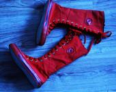 Konversu tipo raudoni batai