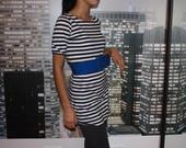 Jūrinio stiliaus suknelė-palaidinė-tunika