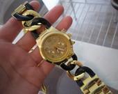 MK Michael Kors auksinis su juodu pinta apyranke