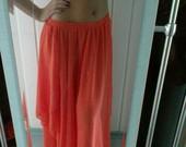Ilgas peach sijonas