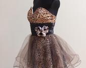Mini ilgio proginė trumpa suknelė