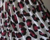 Ružavo leopardo ilga maxi suknia
