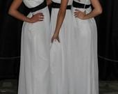 Ilga balta suknele