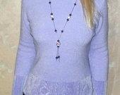Itališkas šviesiai alyvinis megztinis