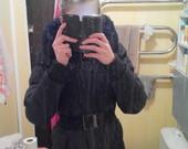 juodas žieminis paltas-striuke