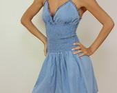 Džinsinė suknelė-sarafanas